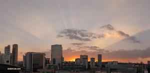 Zdjęcie Williama Li z zachodem słońca nad Meksykiem