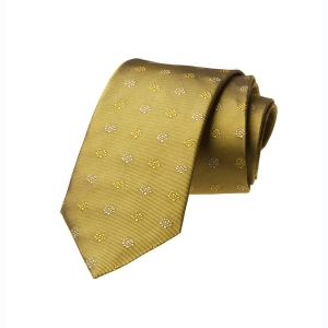Tang Floral Silk Tie - Gold