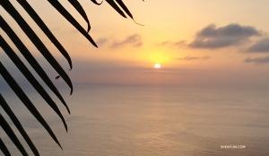 テネリフェ島での美しい日没。