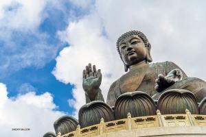 W Hongkongu na wyspie Lantau stpi 34-meterowy posąg Buddy Tian Tan (Michelle Wu)