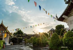 Wizyta w świątyni w Chiangmai tuż przed zachodem słońca. (Michelle Wu)