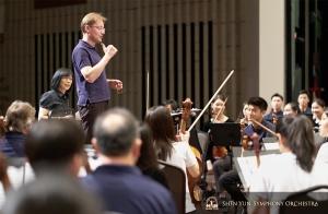 Una prova col direttore Dimitry Russu al Kaohsiung National Center for the Arts (foto del bassista TK Kuo).