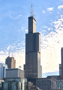 シカゴのウィリス・タワー。かつては世界一高い建物だった。