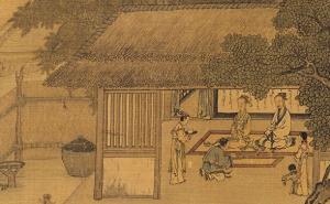 宋高宗書馬和之繪圖《孝經‧庶人章》  600x400