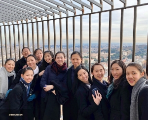 After 551 steps (but who's counting?) dancers from Shen Yun Touring Company reach the top of St. Peter's Basilica's dome.